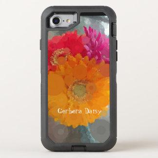 Pop-Kunstroter orange Gerbera-Gänseblümchen-Sommer OtterBox Defender iPhone 8/7 Hülle