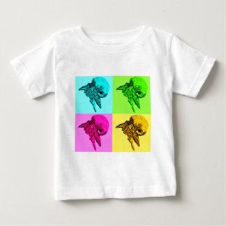 Pop-Kunstviola-Einsiedler-Krabben-Entwurf Baby T-shirt