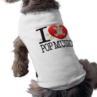 Pop-Musik-Liebe-Mann Ärmelfreies Hunde-Shirt