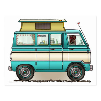 Pop Top Van Camper Postkarte