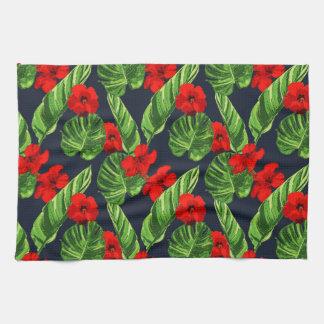 Pop-tropisches Blätter-nahtlose Muster-Reihe 3 Handtuch