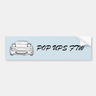 Pop ups FTW Autoaufkleber