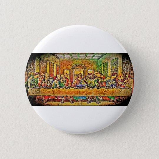 PopArt Da Vinci Runder Button 5,7 Cm