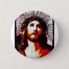 PopArt Jesus Runder Button 5,7 Cm