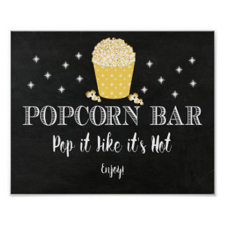 Popcorn-Bar-Zeichen - Dank für Poppin herein Poster