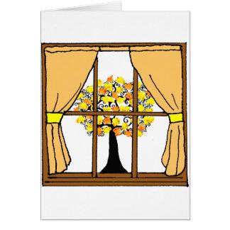 Popcorn, knallend auf dem Aprikosen-Baum Karte
