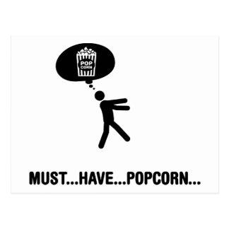 Popcorn-Liebhaber Postkarte