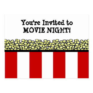 Popcorn Postkarte