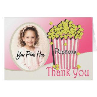 Popcorn und Film-Foto danken Ihnen Karte