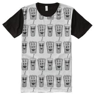 Popcorn und Soda T-Shirt Mit Bedruckbarer Vorderseite