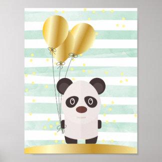 Popey die der Panda-die Wand-Kunst Kinder Poster