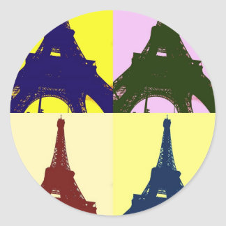 Popkunst Eiffel-Turm Stickers