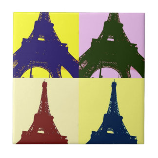 Popkunst Eiffel-Turm Fliese
