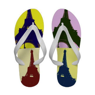 Popkunst Eiffel-Turm Badeschuh