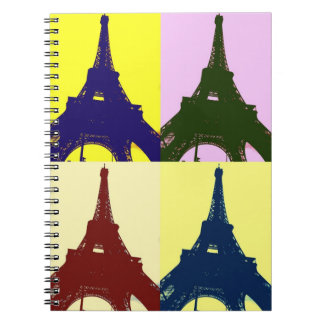 Popkunst Eiffel-Turm Notizbuch