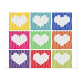 Popkunst-Herzverzierung Postkarte