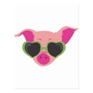 Popkunst Piggy Postkarte