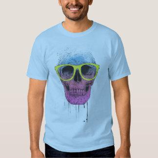 Popkunstschädel mit Gläsern Shirt