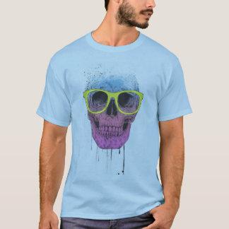 Popkunstschädel mit Gläsern T-Shirt