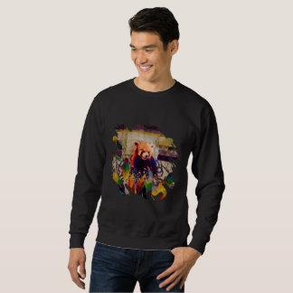Popkunstzusammensetzung des roten Pandas abstrakte Sweatshirt