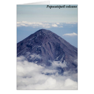 Popocatépetl Vulkan, Mexiko Karte