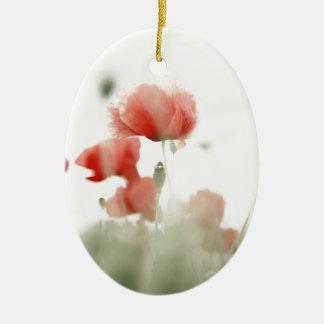 Poppies Ovales Keramik Ornament