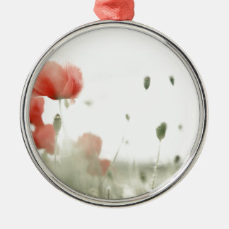 Poppies Silbernes Ornament