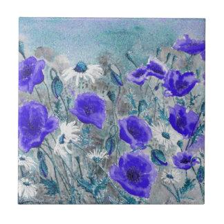 'Poppy Blue' Tile