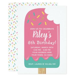 Popsicle-Geburtstags-Einladung Karte
