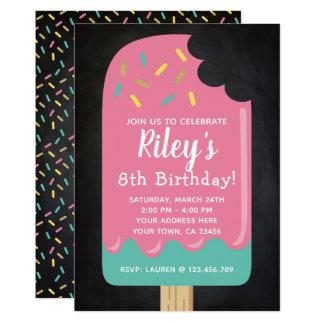 Popsicle-Geburtstags-Einladungs-Tafel Karte