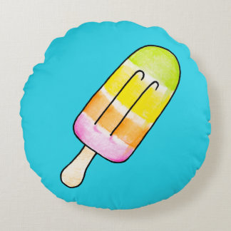 Popsicle Rundes Kissen