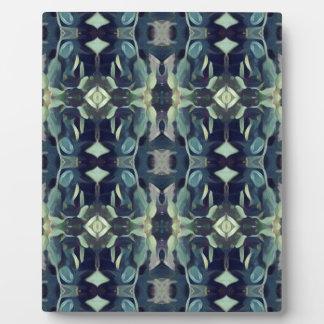Populäre blaue aquamarine Farbstammes- Muster Fotoplatte