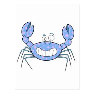 Populäre blaue Crabby Krabben-einzigartiges Postkarte