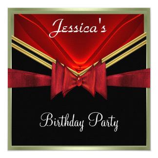 Populäre schwarze rote Party Einladung