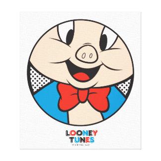 Porky Dotty Ikone Leinwanddruck