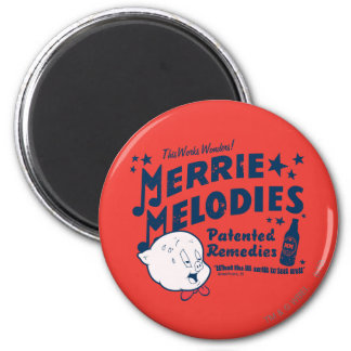 Porky Merrie Melodien behebt 2 Kühlschrankmagnete