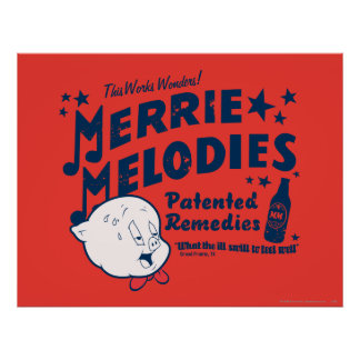 Porky Merrie Melodien behebt 2 Poster