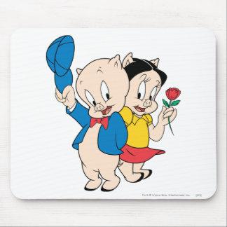 Porky Schwein und Petunie Mousepads