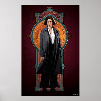 Porpentina Goldstein Kunst-Deko-Platte Poster