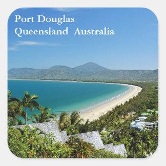 Port Douglas Quadratischer Aufkleber