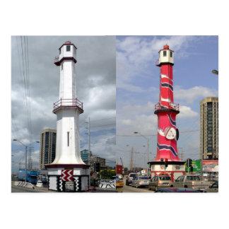 Port-of-Spain Leuchtturm, Trinidad-Postkarte Postkarte