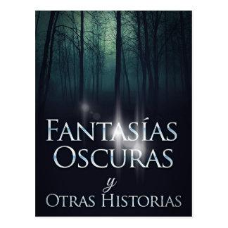 """Portada Del Libro """"Fantasías Oscuras"""" Joel Puga Postkarte"""
