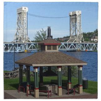 Portage See-Aufzug-Brücke Stoffserviette