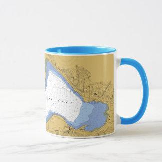Portage See, MI-Seediagramm-Tasse Tasse