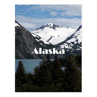 Portage See und Berge, Alaska, USA Postkarte