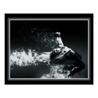 """Portal"" B&W Digital abstrakte 16 x 20 Poster"