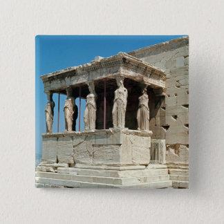 Portal der Mädchen, Erechtheion, c.421-405 BC Quadratischer Button 5,1 Cm