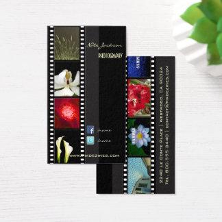 Portfoliogeschäftskarten-Fotoschablone Visitenkarte