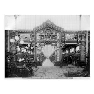 Portico des Gewebes an der universellen Postkarte