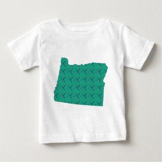 Portland-Flughafenteppich Oregon-Karte Baby T-shirt